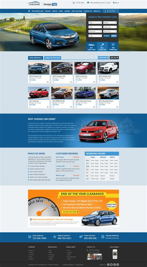 website templates for used car dealers car zone free car dealer psd website template designyep