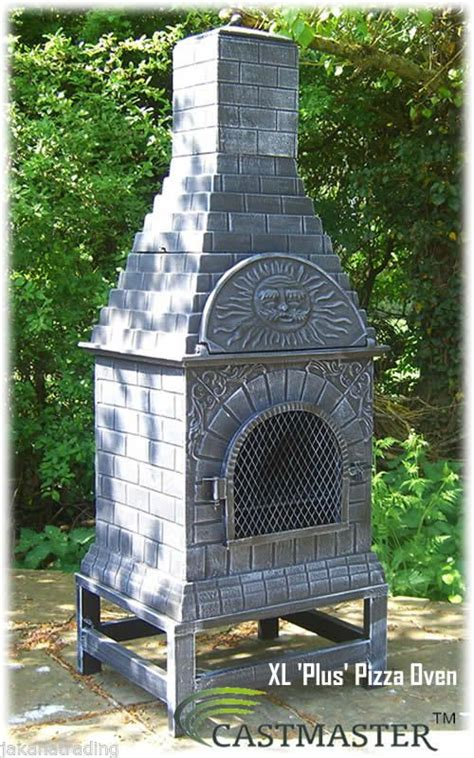 Clay Chiminea And Pizza Oven Details About Castmaster Outdoor Garden Cast Iron Pizza