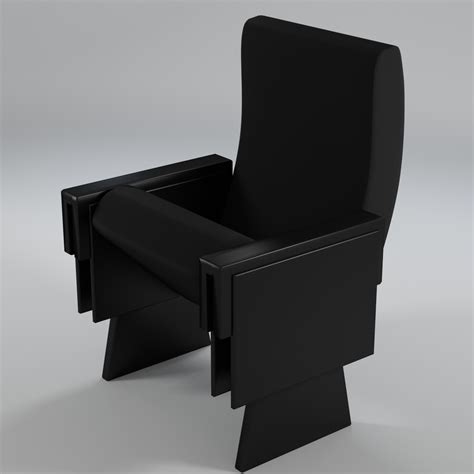 armchair cinema theater armchair 2 uv unwrapped 3d model