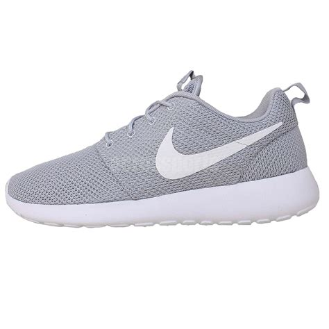 white nike athletic shoes nike rosherun roshe one run grey white mens running shoes