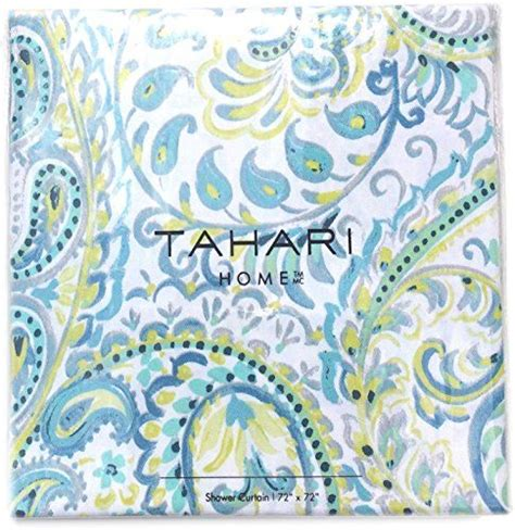 turquoise paisley curtains tahari luxury cotton blend shower curtain turquoise aqua