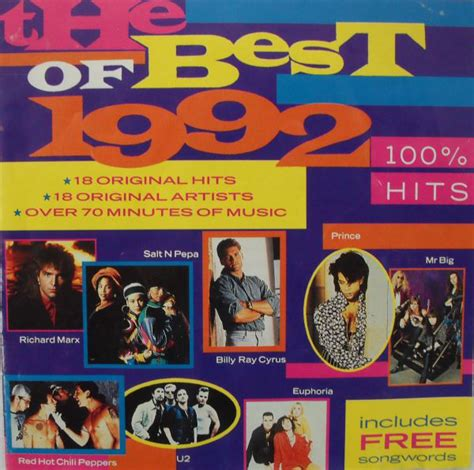 best of 1992 various the best of 1992 100 hits cd at discogs