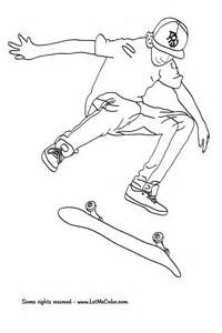 skate coloring pages cool skateboarding free colouring pages