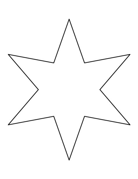 printable templates of stars six pointed star pattern use the printable outline for