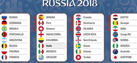 sorteggio mondiali 2018 in tv e diretta oggi 1