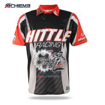 Kaus Polo Jersey kustom sublimation motocrosse jersey mobil balap polo kaus