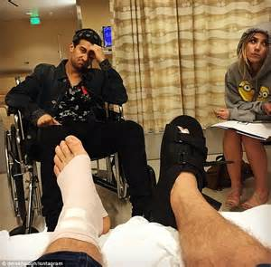 derek hough injures both feet in freak accident during