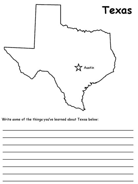 texas map coloring page coloring home
