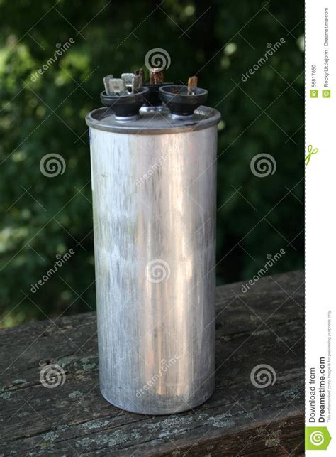 what are large capacitors used for damaged dual ac capacitor stock photo image 56817650