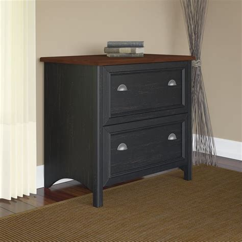 Bush Stanford Lateral File Cabinet Bush Stanford Lateral File Cabinet In Antique Black Wc53984 03