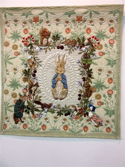 Japanese Patchwork Quilts - rabbit beatrix potter quilt by yoko saito 2016