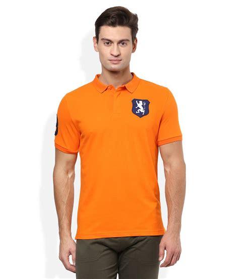 Polo T Shirt 1 giordano orange solid polo t shirt buy giordano orange