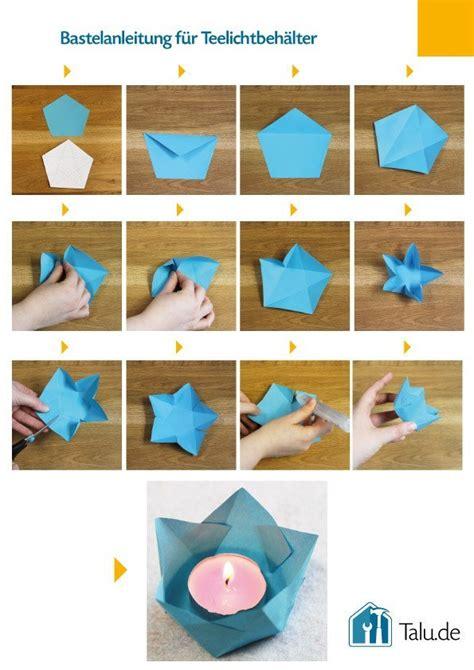 Bastelanleitungen Aus Papier by Teelichthalter Aus Papier Basteln 4 Bastelanleitungen