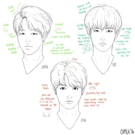 sketch your out a skill and style guide books bts jimin jungkook and v sketch references