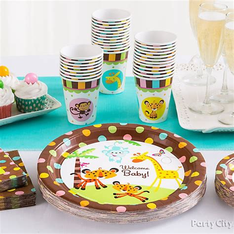 Baby Shower Place Setting Ideas jungle theme baby shower place settings idea city