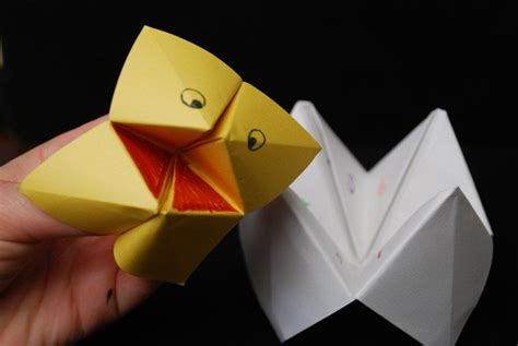 How To Make A Puppet With A Paper Bag - how to make a quot himmel oder h 246 lle quot spiel paper fortune