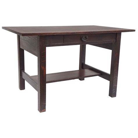 gustav stickley library table or writing desk circa 1905