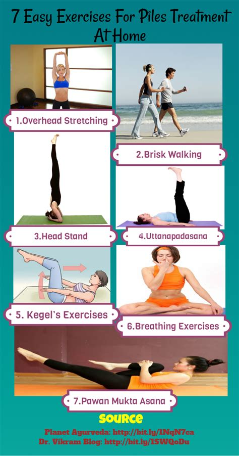 7 easy exercises for piles treatment at home