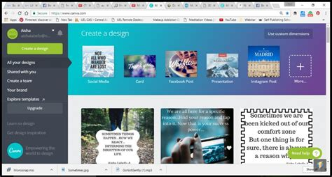 canva login page step by step on how i put my quotes on images using canva