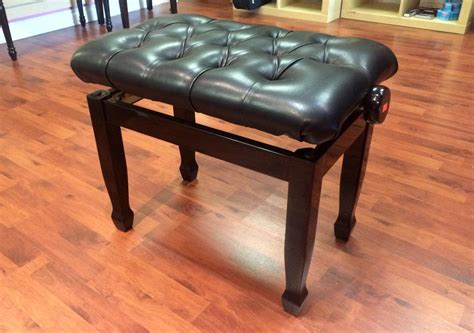 leather piano bench beautiful adjustable leather piano bench north vancouver