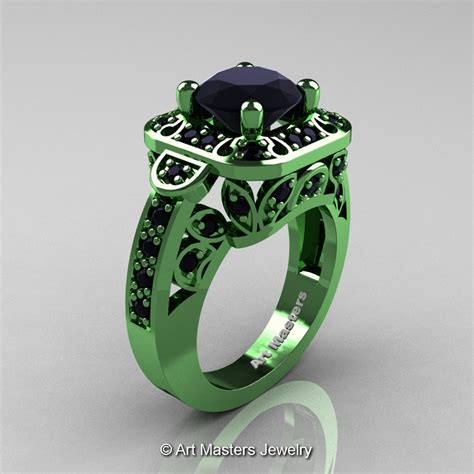 masters classic 14k green gold 2 0 ct black