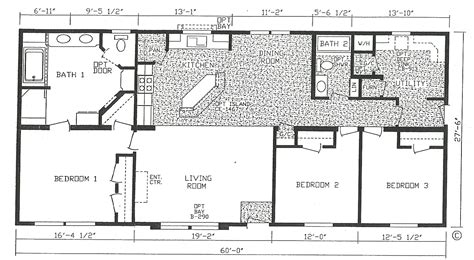 modular floorplans bedroom house plans one story designs digihome and 5