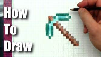 How To Make A Minecraft Pickaxe Out Of Paper - how to draw minecraft pickaxe