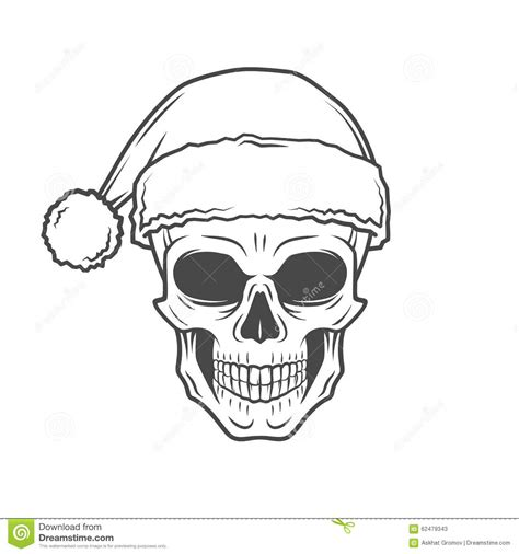 heavy metal christmas design bad santa claus stock vector
