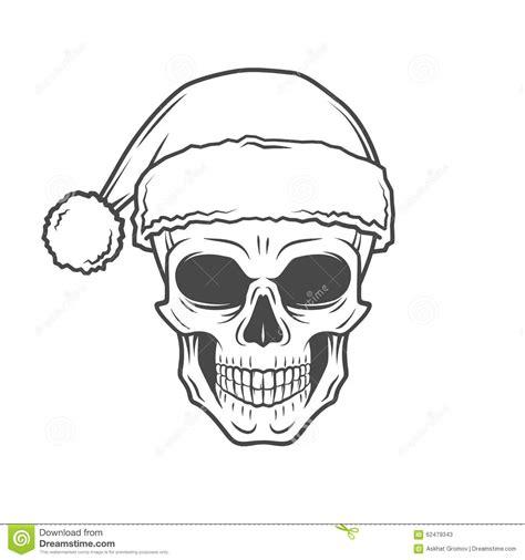 heavy metal christmas design bad santa claus stock vector