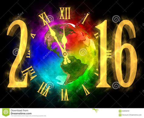 earth new year new year 2016 america stock illustration image 62839233