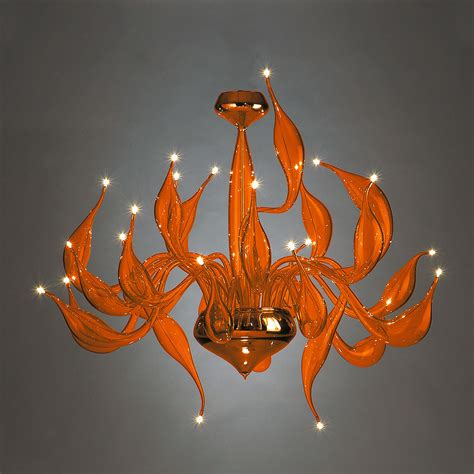 Orange Chandeliers Orange Chandelier Lu 5 For A Modern Interior Lighting Design