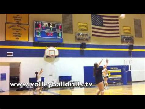setting drills youtube volleyball passing and setting drills better ball control