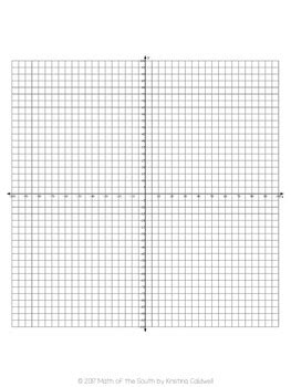 Coordinate Grid Template by Free Graph Paper Coordinate Plane Coordinate Grid