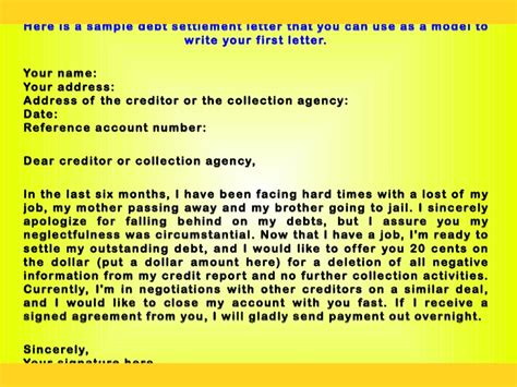 Credit Card Negotiation Letter how to write a convincing debt negotiation letter