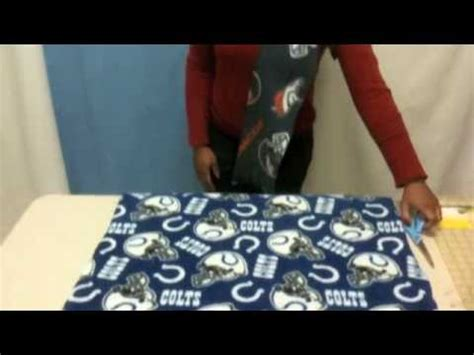 how to make a no sew nfl fleece scarf youtube