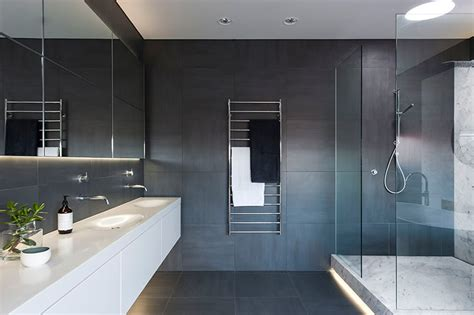 bathroom designers refined yet minimalist bathroom design with greenery