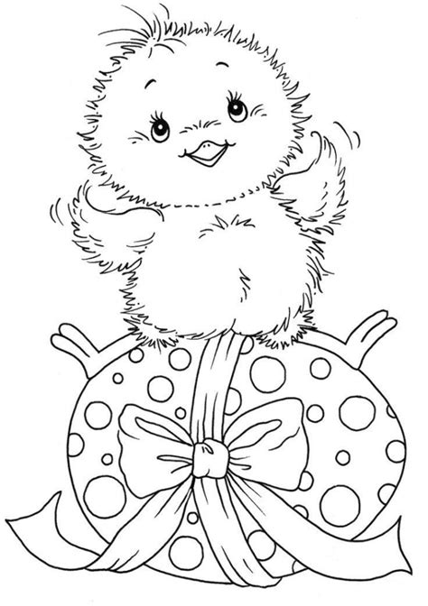 free coloring pages of chick