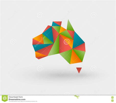 Origami Au - origami map of australia stock vector image 81990183