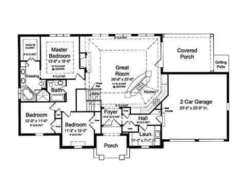 open floor house plans ranch style home interior plans
