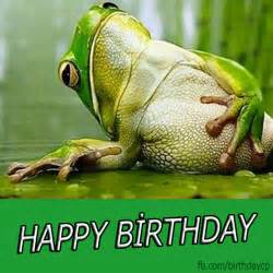 birthday greeting card with the frog a327 birthday