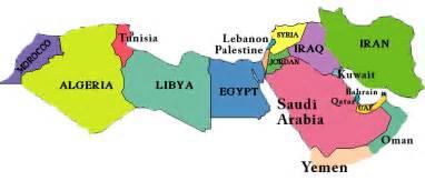 Map Of The Arab World by The Arab Muslim World