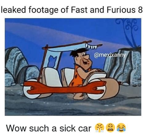 fast and furious 8 meme leaked footage of fast and furious 8 uitv anny wow such a