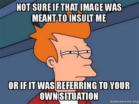 If Meme - not sure if that image was meant to insult me or if it was