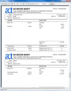 payslip template malaysia sle standard reports in actpay payroll actpay payroll