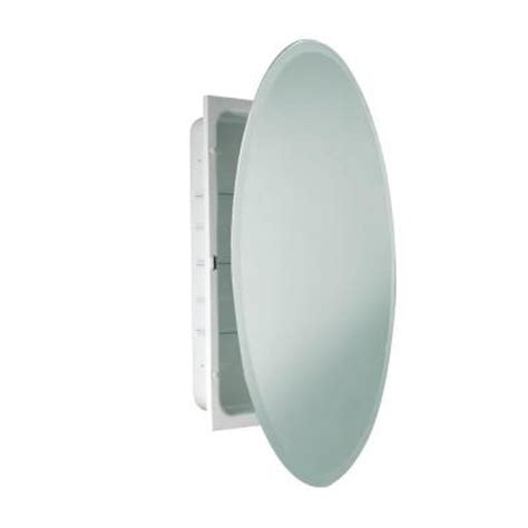 deco mirror 24 in x 36 in recessed beveled oval medicine
