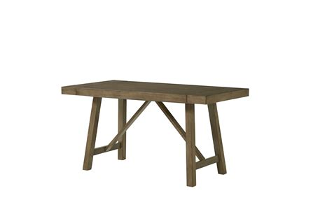 Standard Furniture Omaha Counter Height Table In Grey Standard Height Of Dining Table