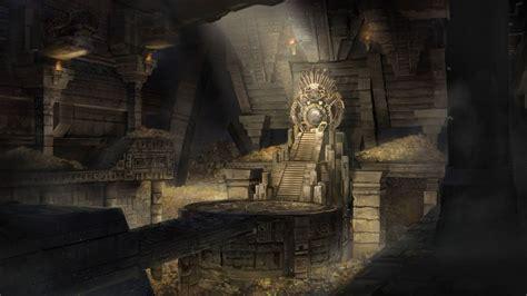 tj foo mayan throne room original fantasy art wallpaper
