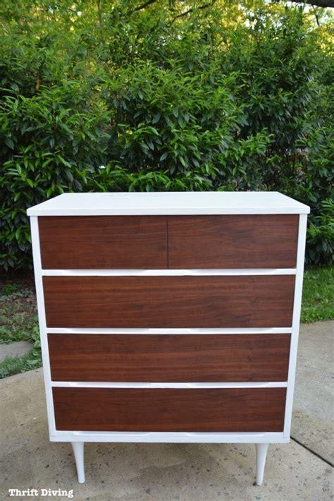 modern natural wood dresser before after mid century modern dresser makeover