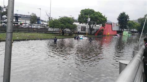 imagenes inundacion indios verdes lluvia deja inundaciones severas en 6 puntos de la gam