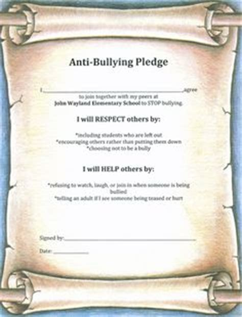 Anti Bully On Pinterest Anti Bullying Bullies And Stop Bullying Anti Bullying Contract Template